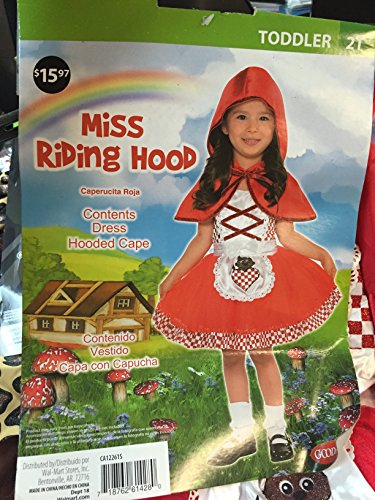 Riding Miss Hood (Miss Riding Hood Costume (Toddler) (2T))