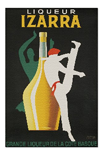 Liqueur Izarra Vintage Poster (artist: Colin) France c. 1948 (20x30 Premium 1000 Piece Jigsaw Puzzle, Made in USA!)
