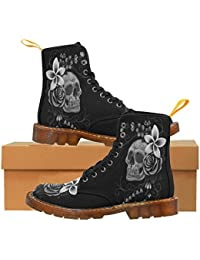 LEINTEREST Skull Martin Boots Fashion Shoes For Women