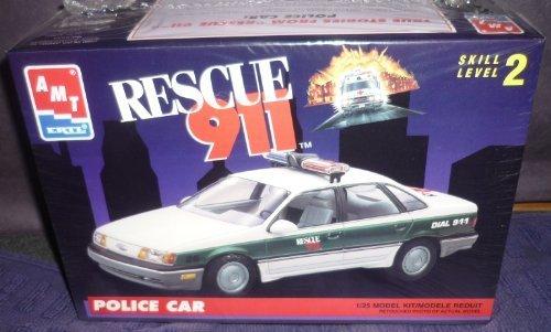 #6417 AMT/Ertl Rescue 911 Police Car 1/25 Scale Plastic Mode