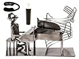 Cheap Fabulous Pianist Piano Player Metal Wine Bottle Holder ,Plus a Wine Foil Cutter and a Wine Stopper