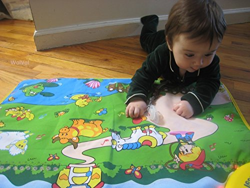 WolVol Musical Play Mat for Baby Toddlers Kids, Crawling Baby Toy Learning Development, Animals and Farm Activity ()