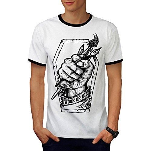 Work Or Die Painter Challenge Men S Ringer T-shirt   Wellcoda - Sled Hockey Sticks