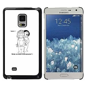 YiPhone /// Prima de resorte delgada de la cubierta del caso de Shell Armor - Amor Comedia - Samsung Galaxy Mega 5.8