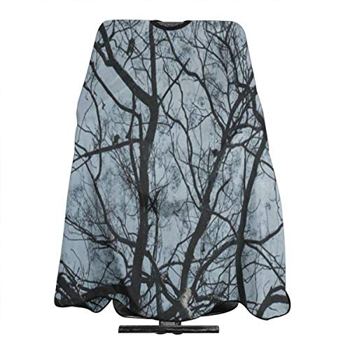 Brich Tree Forest Bird Sky Salon Hair Cutting Cape Cloth Vintage Haircut Tool For Profession Barbershop (Trees Brich)