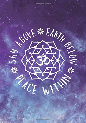 sky above earth below peace in yoga notebook journal