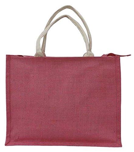 x Yuga Rose pouces 5 pliable Panier de x Handy 16 Zora Sac shopping Jute réutilisable rangement 4 de 13 sac de FrqF6g
