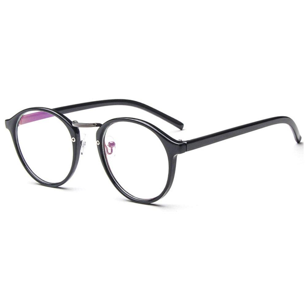 Forepin Lunettes rondes vintage rétro reg  Monture lunettes de vue  transparent pour femme et homme 51e0a76a271