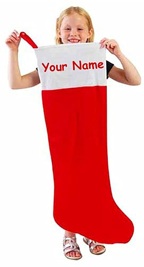 80395c192ff Image Unavailable. Image not available for. Color  Personalized Red and  White Jumbo Oversized Felt Christmas Stocking ...