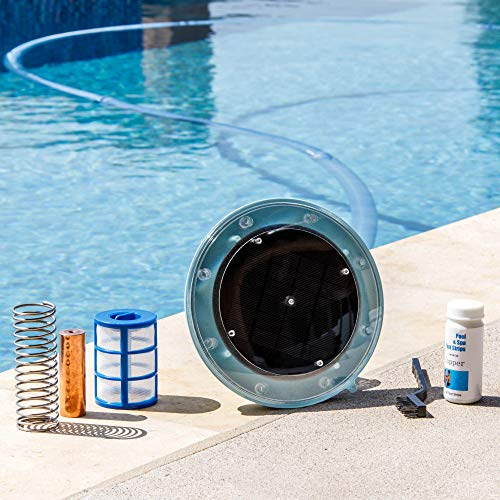 (XtremepowerUS Solar Pool Purifier Pool Solar Ionizer System Chlorine Effective up to 32,000 Gallons Reduces Chlorine Algae)