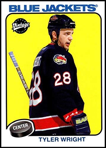2001-02 Upper Deck Vintage #74 Tyler Wright NM-MT Columbus Blue Jackets Official NHL Hockey Card (Vintage Deck Jacket)