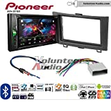 Volunteer Audio Pioneer AVH-201EX Double Din Radio Install Kit with CD Player Bluetooth USB/AUX Fits 2012-2016 Honda CR-V (Without factory amplified systems)