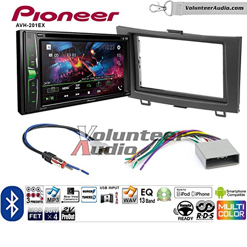 Volunteer Audio Pioneer AVH-201EX Double Din Radio Install Kit with CD Player Bluetooth USB/AUX Fits 2012-2016 Honda CR-V (Without factory amplified systems) by Volunteer Audio (Image #7)