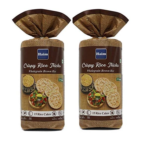HAIM Organic Wholegrain Brown Rice Cakes-Unsalted Pack of 2
