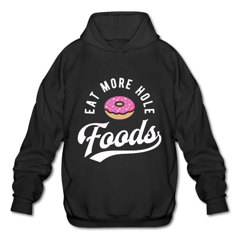 Eat More Hole Foods Doughnut Mens Funny Hooded Sweatshirt Hoodie
