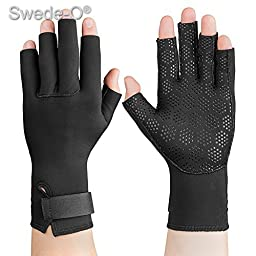 Swede-O Thermal Arthritic Gloves, pair, Black, Medium