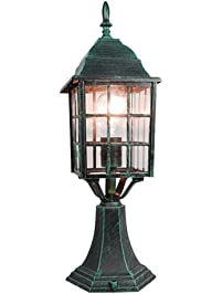 ETopLighting Mission Style Collection Oil Rubbed Verde Green Finish Outdoor  Post Pillar Lantern Light APL1133