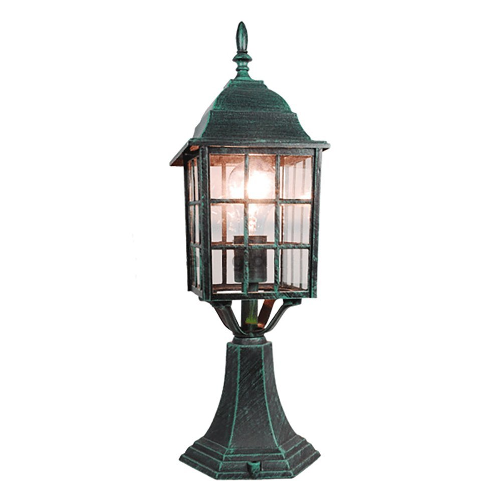 eTopLighting Mission Style Collection Oil Rubbed Verde Green Finish Outdoor Post Pillar Lantern Light APL1133 by eTopLighting