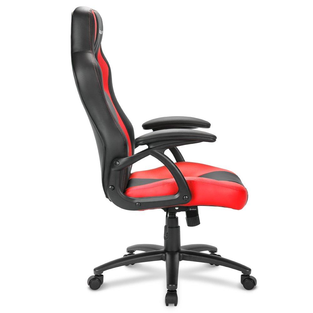 Sharkoon Sharkoon Sharkoon Skiller SGS1 Gaming Seat mit Kunstlederbezug, Extra-bequeme Schaumstoffpolsterung, Fußkreuz aus robustem Stahl, Komfort-Wippfunktion, Stabile Gasdruckfeder, schwarz grau 94068a