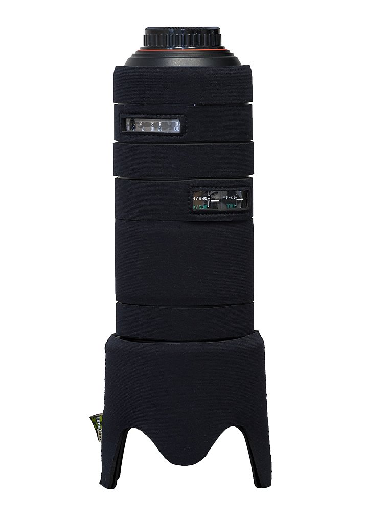 LensCoat Camera Cover Pentax D FA 70-200 F/2.8, Neoprene Camera Lens Protection Sleeve (Black) lenscoat