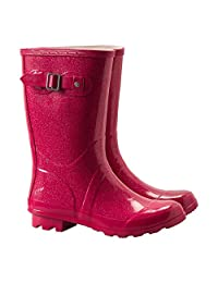 Mountain Warehouse Classic Kids Glitter Rubber Wellies - Walking Boots