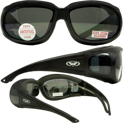 Global Vision Outfitter Smoke Anti Fog Has Side Lenses That Provide Great Peripheral - Walmart Sunglasses Glasses Over