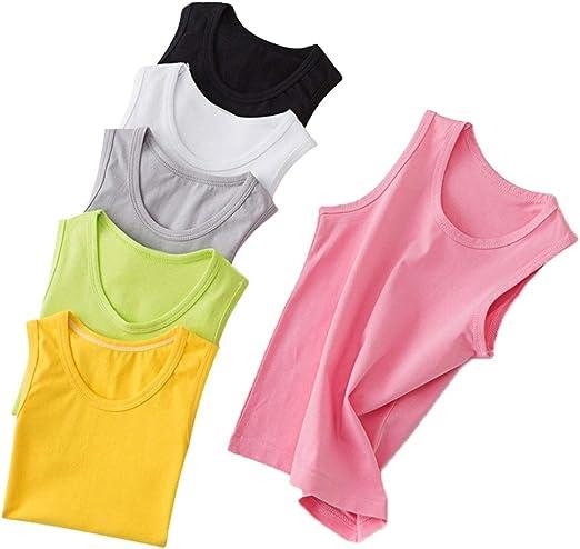 Camisetas sin mangas para niños Ropa para niños Chaleco de algodón ...