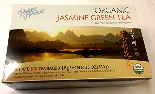(Prince of Peace Organic Green Tea Jasmine, 100 Count)
