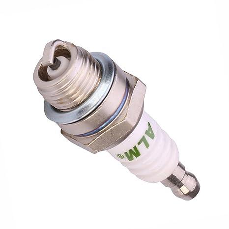 UTP Premium Calidad ALM CJ8 Estándar Bujía Enchufe Universal cortacésped cortacésped Gasolina Motores: Amazon.es: Jardín