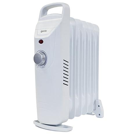 Igenix IG0500 - Calefactor (Calentador de aceite, Piso, Blanco, 500 W,