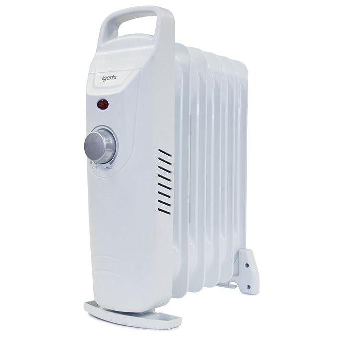 Igenix IG0500 - Calefactor (Calentador de aceite, Piso, Blanco, 500 W, 220-240, Aceite): Amazon.es: Hogar