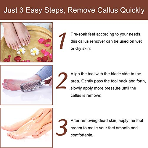 Makartt Coarse Professional Callus Remover Foot File Stainless Steel Colossal Foot Rasp for Extra Soft and Beautiful Foot, F-03