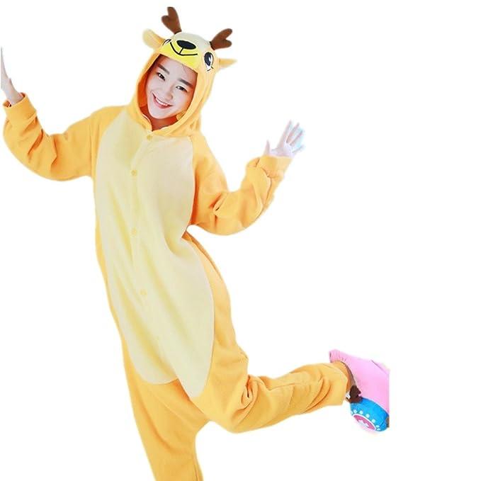 BOMOVO Pijamas Ropa de Dormir Disfraz de Animal Cosplay Para Niños ciervo