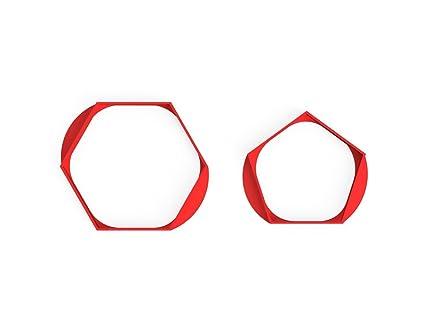 3DreamsDesign Juego de 2 Fútbol Panal WM Moldes Decorativos para Galletas Soccer cookiecu tter
