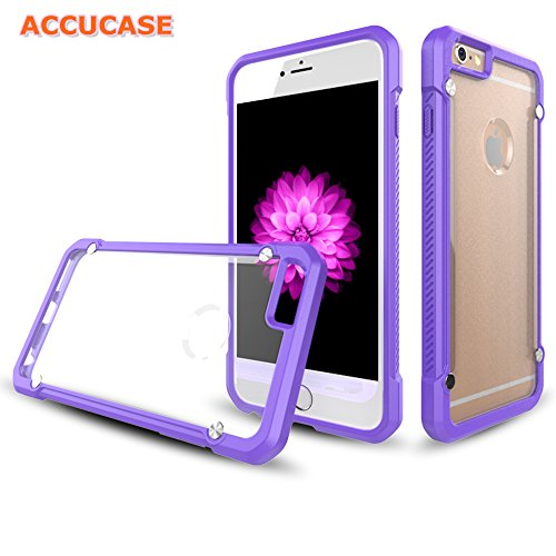 iPhone 6 Case, iphone 6 cases for girls,[ACCUCASE Apple iPhone 6 Colorful Matte Cases]Heavy Duty Anti-Scratch Ultra Thin TPU+PC Protective Case Cover for iPhone 6/6S 4.7 inch (Purple)