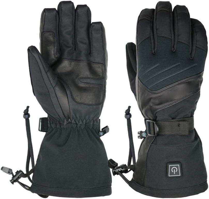 schwarz Medium ZAGO Beheizte Handschuhe Touchscreen Handschuhe for Frauen und Männer 7,4V 2200mAh Elektro Wiederaufladbare Beheizte Handschuhe Radfahren Motorrad Wandern Snowboarding (Farbe   schwarz, Größe   XL)