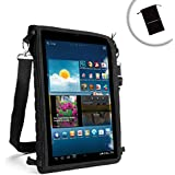 USA Gear FlexARMOR X Universal Medium - Large Tablet Carrying Case with Touch Capacitive Screen Protector and Adjustable Shoulder Strap - Works with Dell Venue 8 and Dell Venue 8 Pro