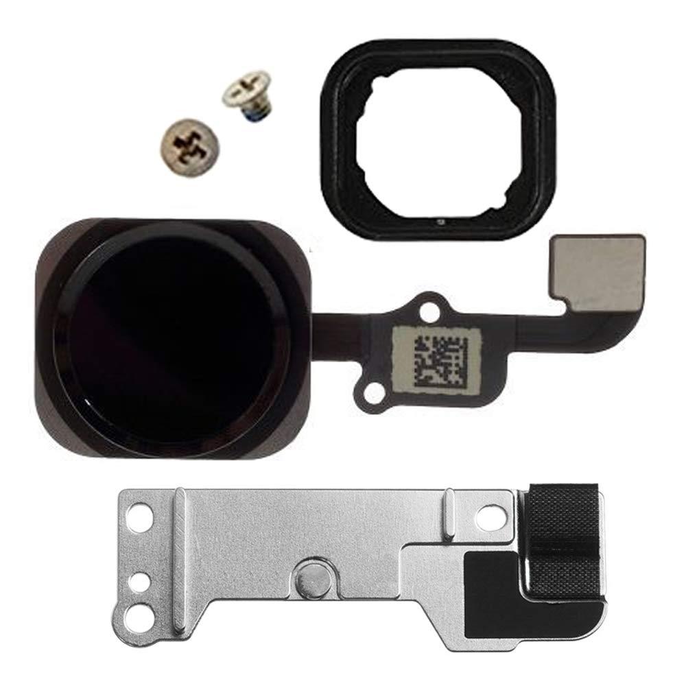 Cavo Flessibile incl Nero//Space Grey MMOBIEL Pulsante Home Compatibile con iPhone 6S // 6S Plus cacciaviti