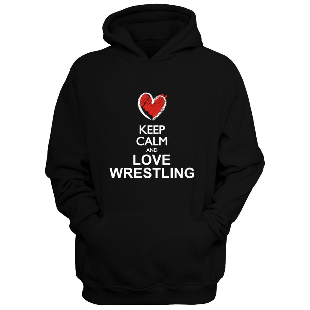 Idakoos Keep Calm and Love Wrestling chalk Style - Sports - Hoodie