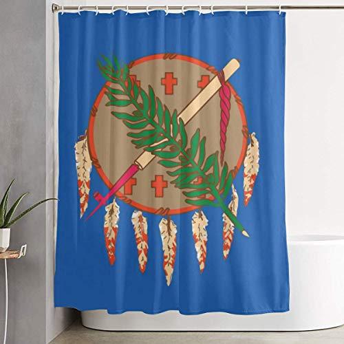 Oklahoma State Flag Bath Shower Curtain Waterproof Bathroom Decor Curtain with Hooks 48