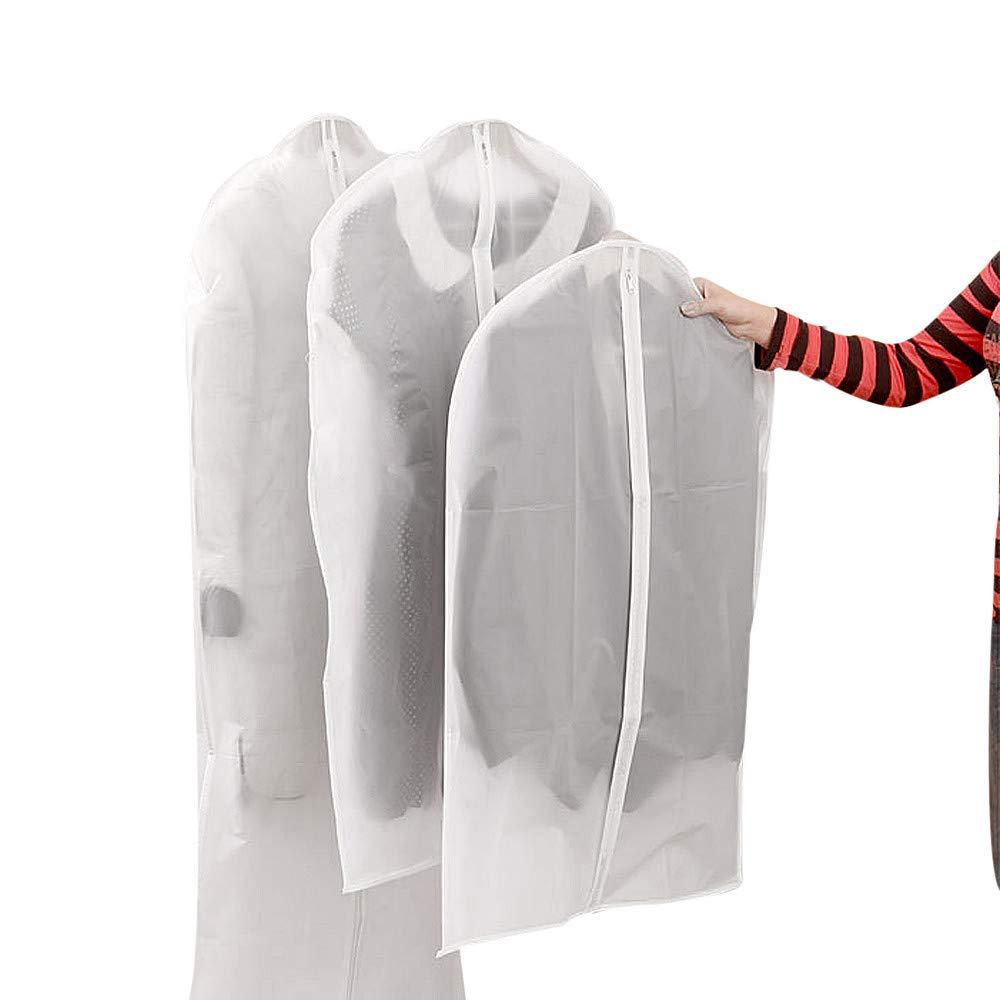 Caslia Garment Suit Dress Jacket Clothes Coat Dustproof Anti-Dust Cover Protector Travel Bag (L)