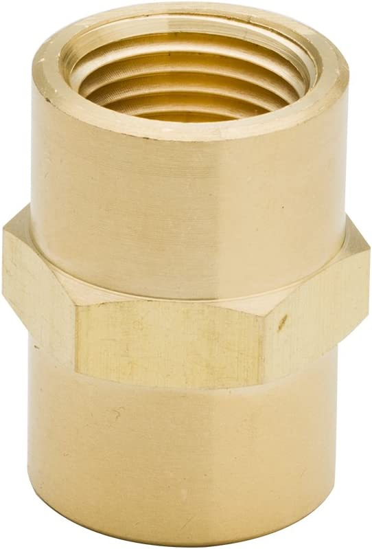 3//8 NPTF Female x 1//8 NPTF Female Reducing Hex Coupling Legines 5PCs Brass Pipe Fitting