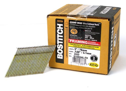 BOSTITCH S10DGAL-FH 28 Degree 3-Inch by .120-Inch Wire Weld Galvanized Framing Nails (2,000 per ()