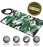Pet Heated Pad - Petfactors Indoor Pet Bed Warmer - 7-Level Adjustable Temperature Electric Heated Mat with Removable Waterproof Cover (Camouflage)