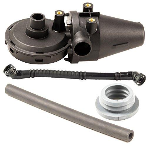 Bapmic 11151703484 Crankcase Oil Separator + Vent Valve + Breather Hose + Grommet for BMW E36 E39 Z3
