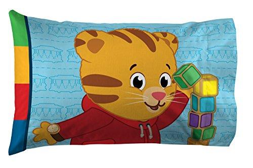 Jay Franco Daniel Tiger's Neighborhood 4 Piece Toddler Bed Set - Super Soft Microfiber Bed Set Includes Toddler Size Comforter & Sheet Set - (Official Daniel Tiger's Neighborhood Product) 6