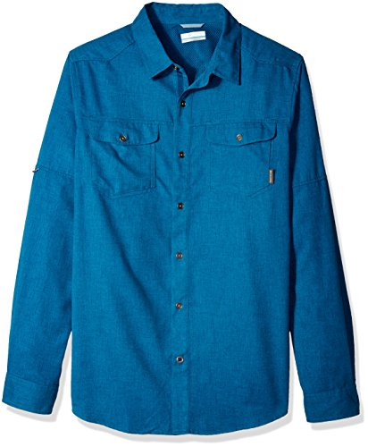 Price comparison product image Columbia Men's Pilsner Lodge Long Sleeve Shirt, Medium, Phoenix Blue Heather