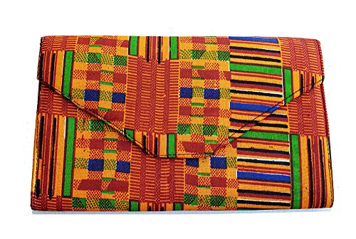 African Kente Print Clutch Purse (Bag Print African)