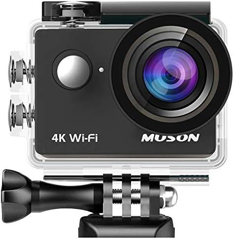 MUSONアクションカメラMC2 4K高画質WiFi搭載30M防水1200万画素170度広角レンズ2インチ液晶画面リモコン付き高品質バッテリー2個【メーカー直販/1年保証付】(ドライブレコーダー・防犯カメラ・スポーツカメラ・ウェアラブルカメラ)