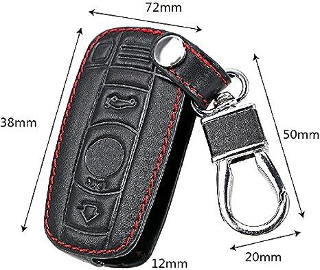 Holdream Porte-cl/és Touches Housse Cuir Coque pour cl/é de Voiture BMW E90/E60